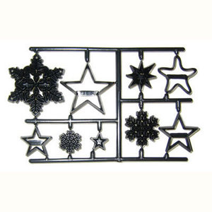 Snowflake patchwork cutters cake